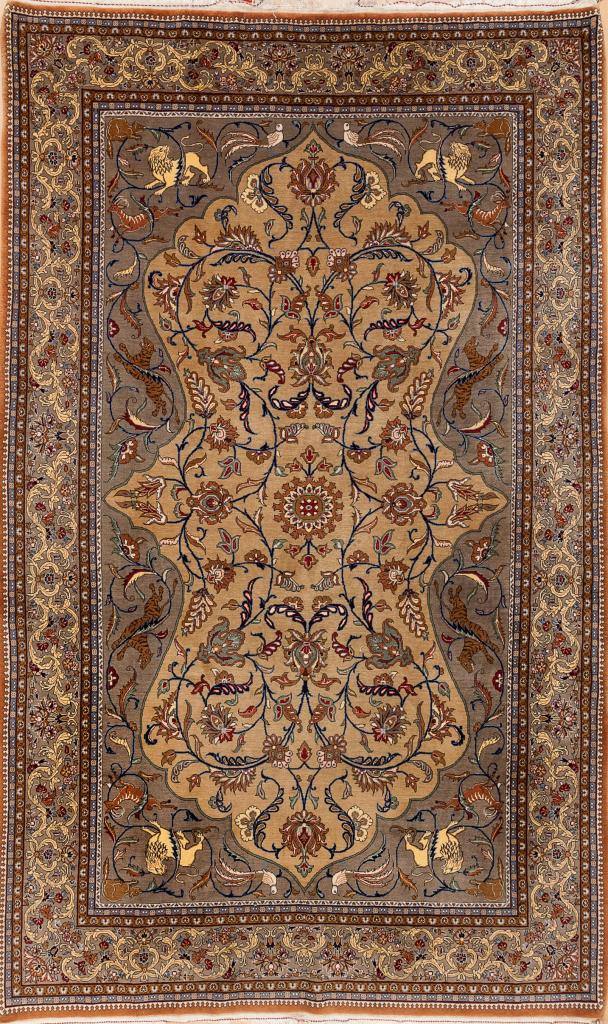 Fine Persian Qum Rug - Wool