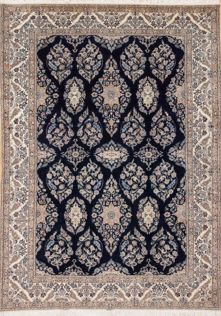 Persian Nain Carpet – Silk and Wool – Allover Design
