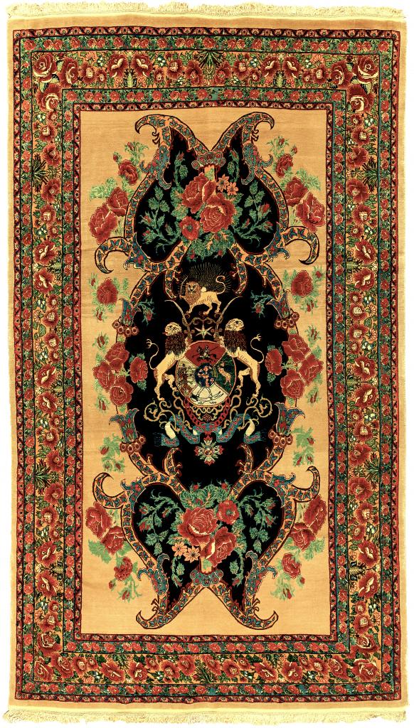 Fine Persian Sanandaj (Senneh) Carpet - Silk and Wool - Approx 3.5x2m (12x7ft)