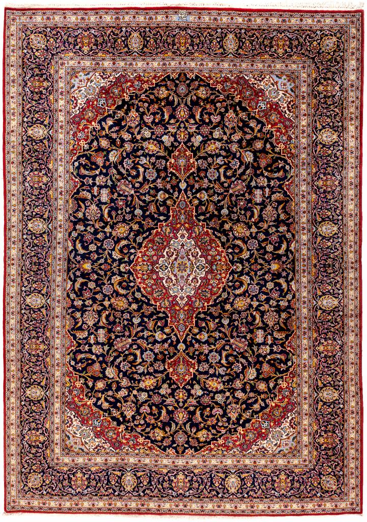 Ghanadian Signed Kashan, Iran Wool Carpet 366x258cm 12x8.5ft
