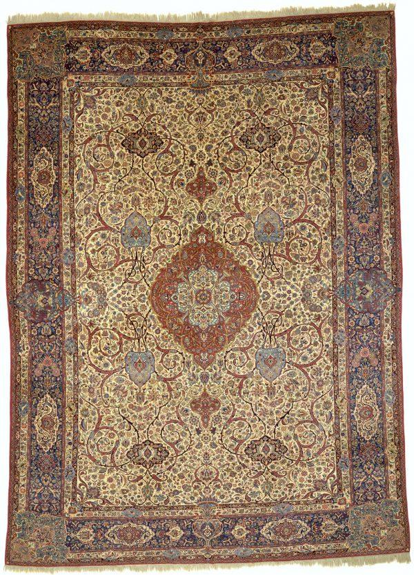 Antique Persian Kashan Carpet - Revivalist Masterpiece