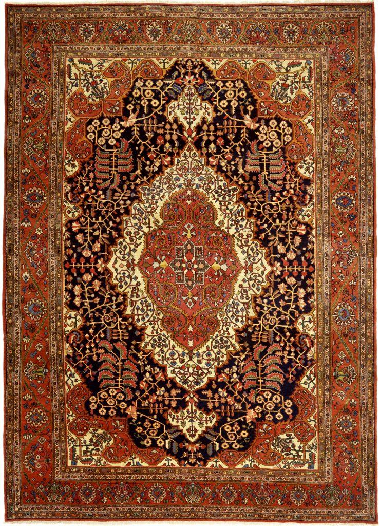 Antique Persian Saruk Carpet - Central Medallion