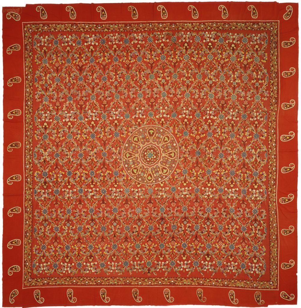 Persian Rasht Square Embroidery Textile