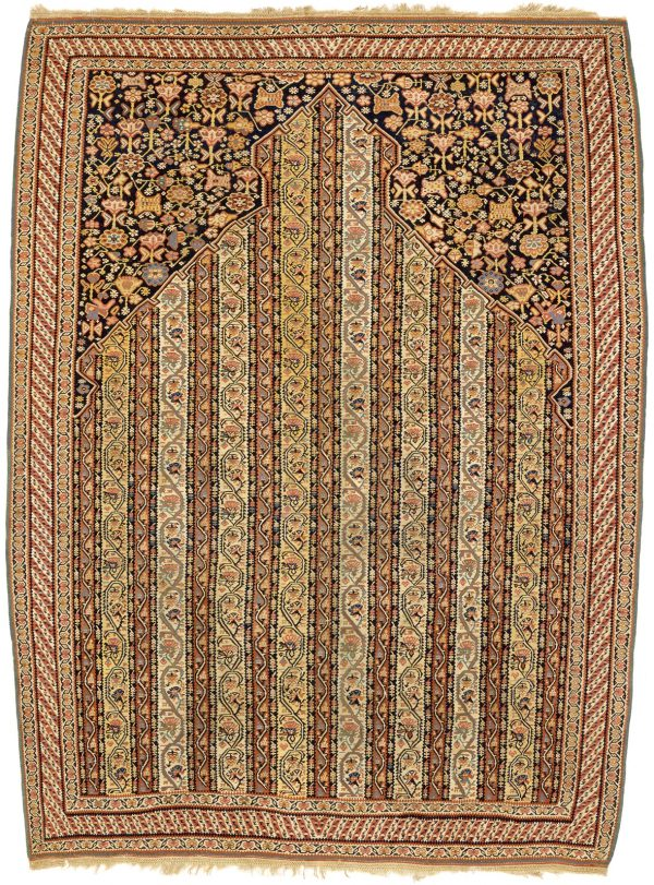 Persian Antique Senneh Kilim at Essie Carpets, Mayfair London