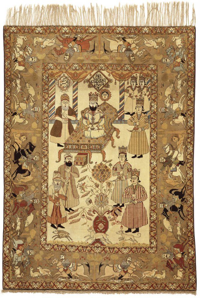 Persian Kashan Rug - Fine Silk and Wool