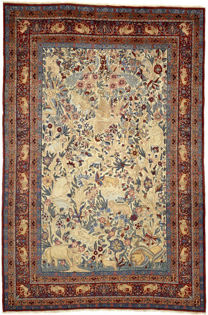 Persian Kerman Wildlife Pictorial Carpet