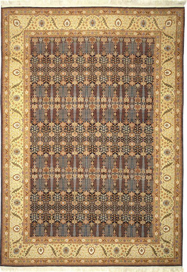 Persian Tabriz Large Carpet - Oversize - Fine Silk and Wool
