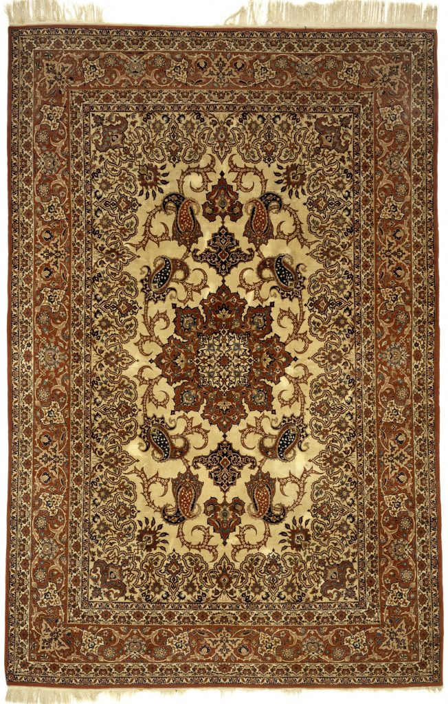 Persian Isfahan Carpet - Silk and Wool
