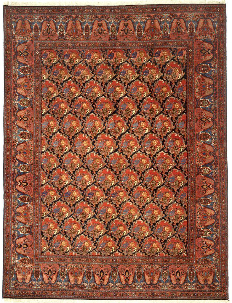 Persian Bijar Large Carpet - Oversize - Allover - Golfarangi (Modern Bouquet)