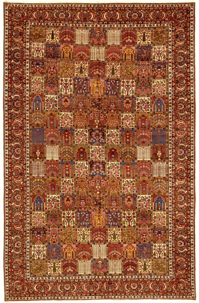 Persian Bakhtiari Large Carpet – Oversize – Wool – Allover Design