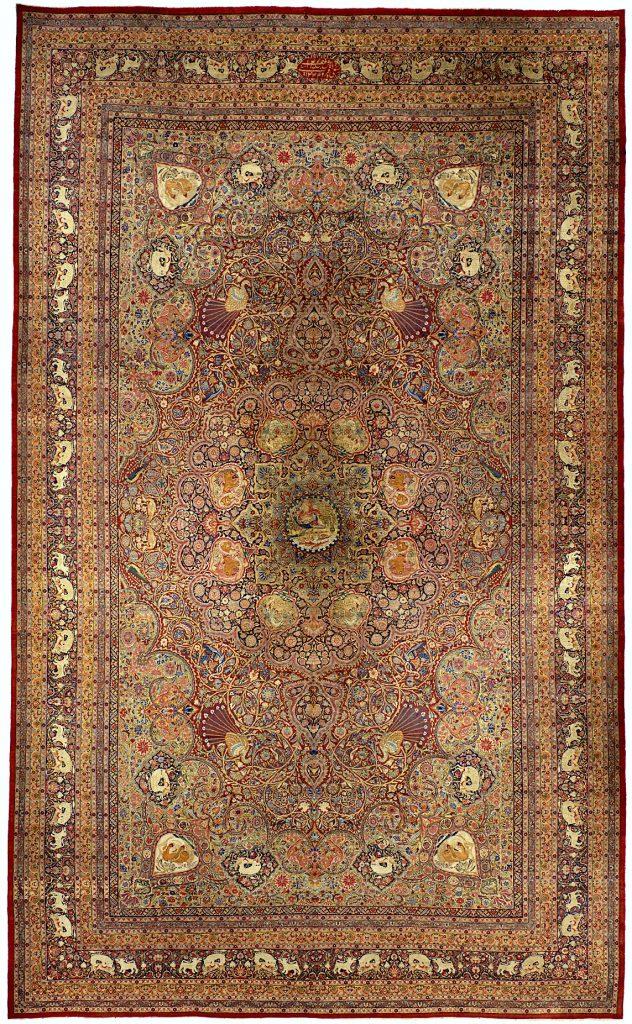 Antique Persian Kerman Ravar Carpet - Palace Size