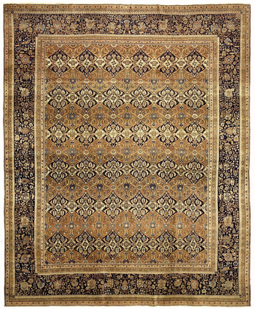 Antique Persian Kashan Mohtashem