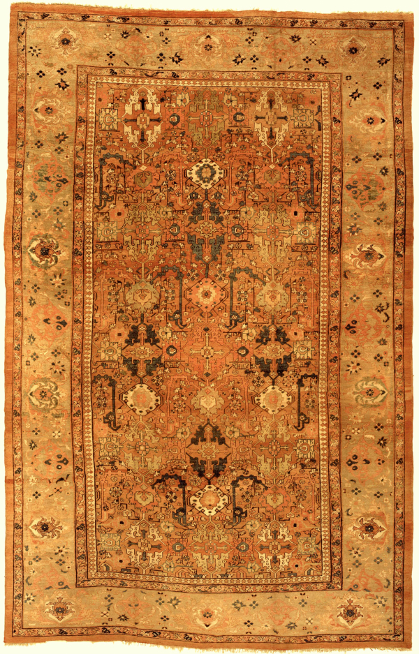 Antique Persian Ziegler Mahal Large Carpet - Oversize