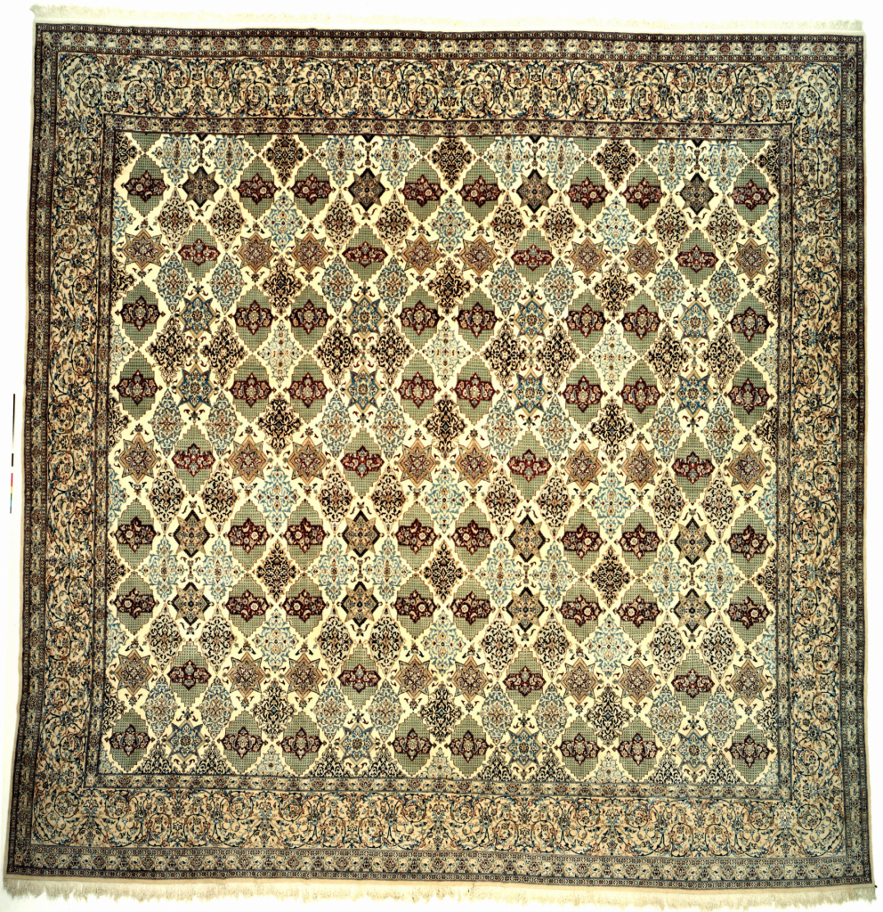 Persian Nain Square Extra-Large Carpet - Fine Silk and Wool